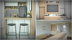 Dressing up townhomes in different styles