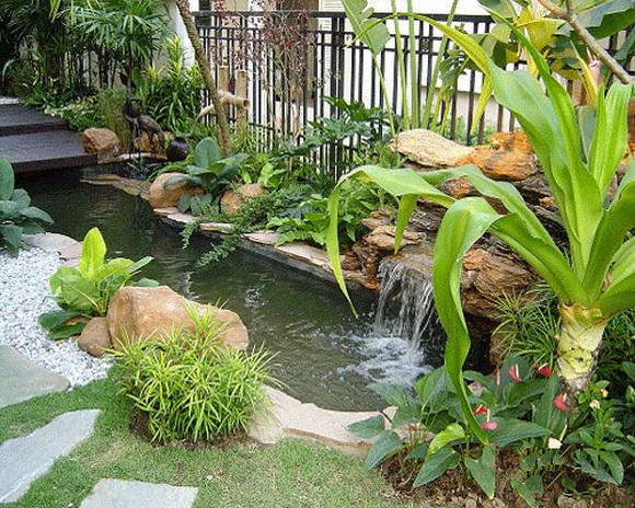 Beautiful garden, enhance luck, feng shui