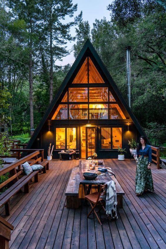 beautiful european style wooden house